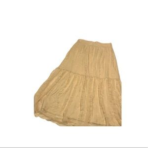 AMERICAN EAGLE 🦅 Cream Lace Maxi Skirt!!
